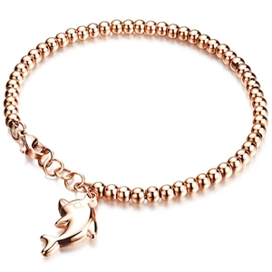 Dolphin armbånd rose IP