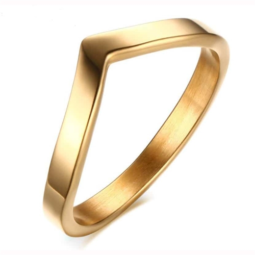 Fingerring IP goldplated